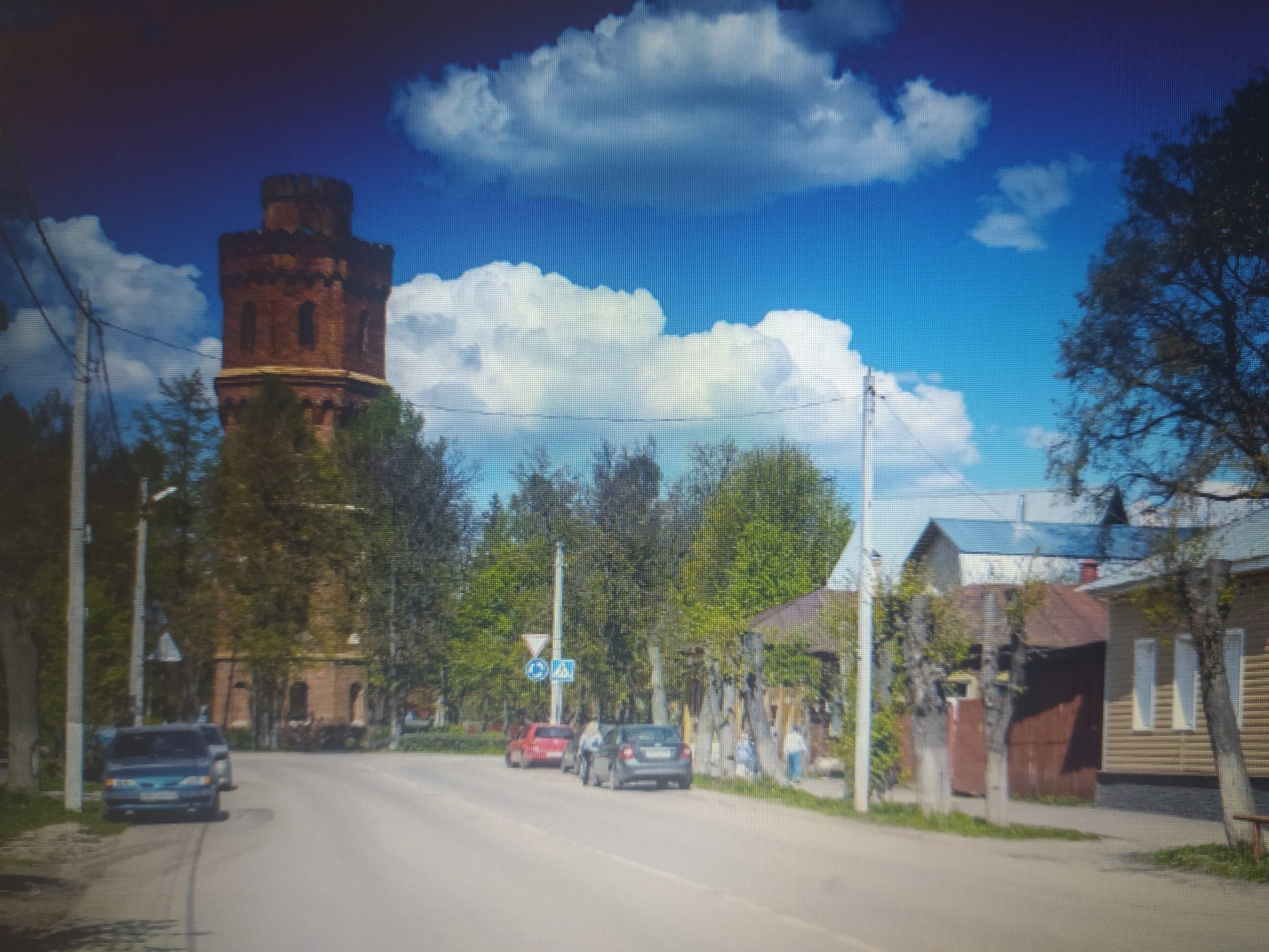 Зарайск, одна из улиц города.
