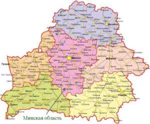 Минская область на карте.