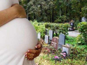 Можно ли беременным на кладбище.